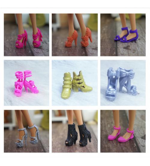 Набор из 10 случайных пар обуви для куклы