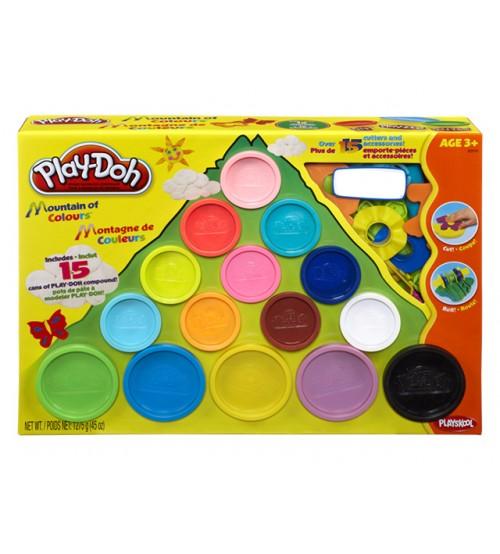 Набор пластилина 15 банок в коробке Play-Doh