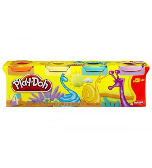 Пластилин цветной 4 баночки в коробке Play-Doh Hasbro