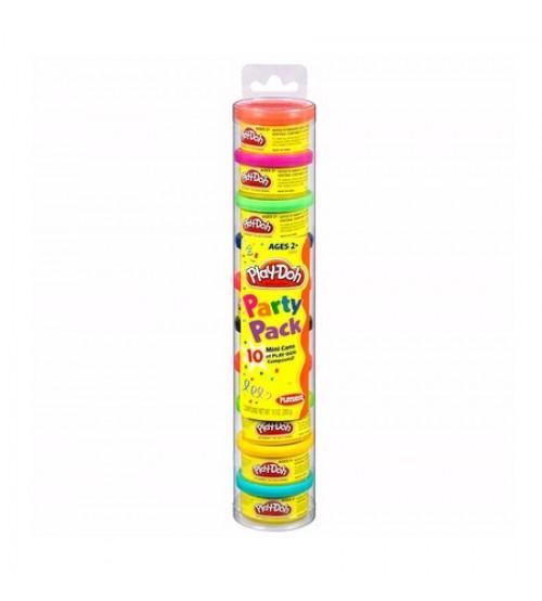 Пластилин Play-Doh цветной 10 банок в тубе Hasbro