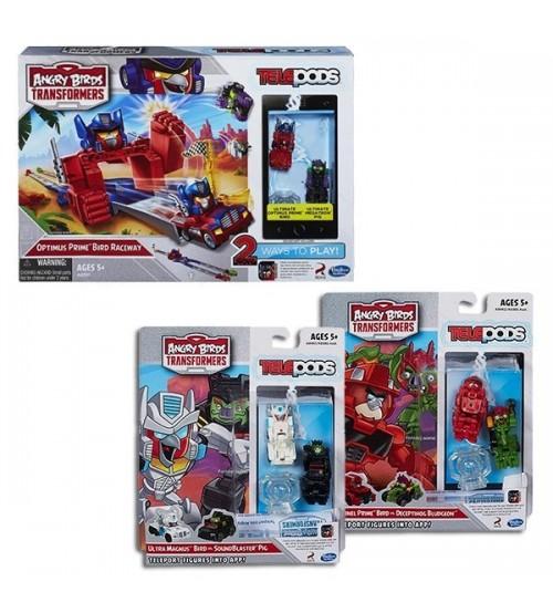 Комплект Angry Birds Transformers Гоночный трек Оптимуса + Ultra Magnus + Sentinel Prime