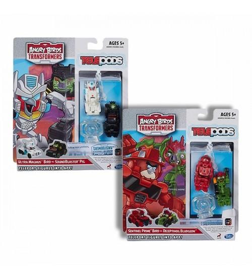 Комплект Наборов Angry Birds Transformers Telepods Ultra Magnus + Sentinel Prime Battlepacks