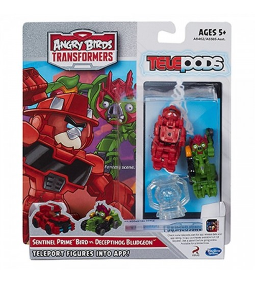 Набор Angry Birds Transformers Telepods Сэнтинел Прайм против Бладгеона
