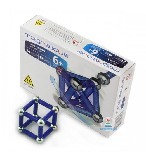 Конструктор магнитный Magneticus (Магнетикус) 34 элемента, синий