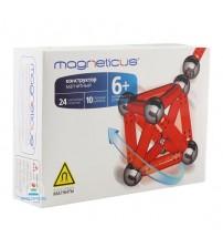 Конструктор магнитный Magneticus (Магнетикус) 34 элемента, красный