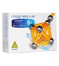 Конструктор магнитный Magneticus (Магнетикус) 34 элемента, желтый