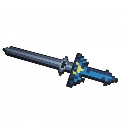 Меч 8Бит синий пиксельный 65см