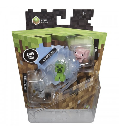 Набор фигурок Minecraft mini-figures Creeper set 1серия пластик