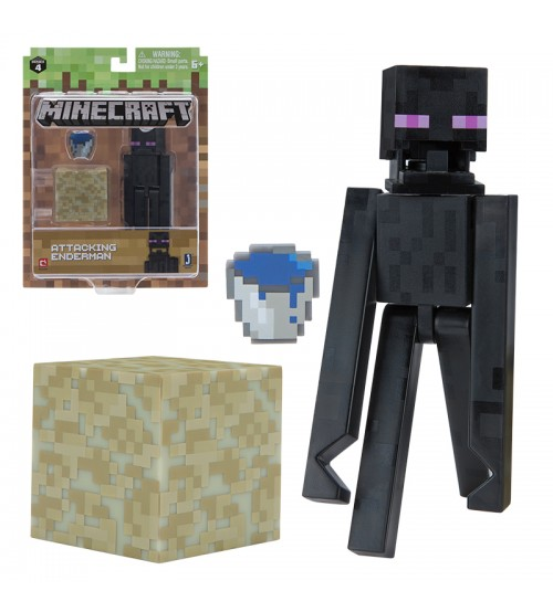 Фигурка Minecraft Attacking Enderman 8см