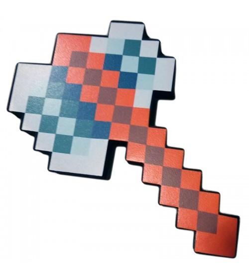 Топор 8Бит Железный пиксельный 22см