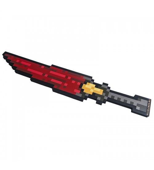 Меч Ледяной 8Бит Красный пиксельный 60см