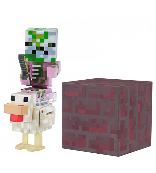 Набор фигурок Minecraft Маленький Зомби на курице 8см