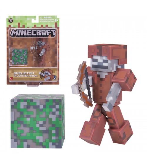 Фигурка Minecraft Скелет в кожаной броне 8см