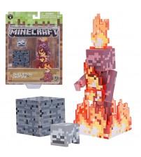 Фигурка Minecraft Скелет в огне 8см