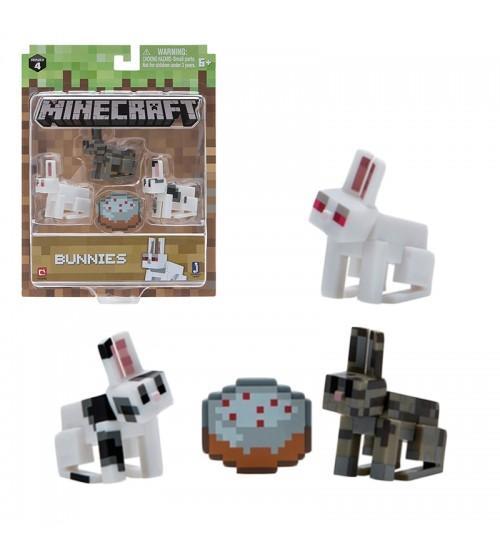 Набор фигурок Minecraft 3 кролика 3шт