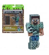 Фигурка Minecraft Стив в кольчуге 8см