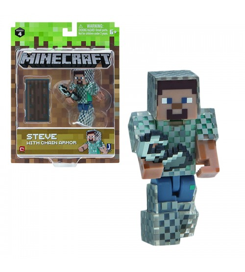 Фигурка Minecraft Steve in Chain Armor 8см
