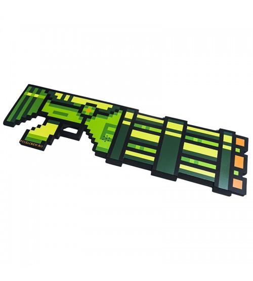 Миниган 8Бит Зеленый пиксельный со звуком 61см