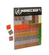 Набор виниловых магнитов Minecraft на холодильник 160 шт.