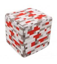 Мягкая игрушка куб Redstone Ore 20см