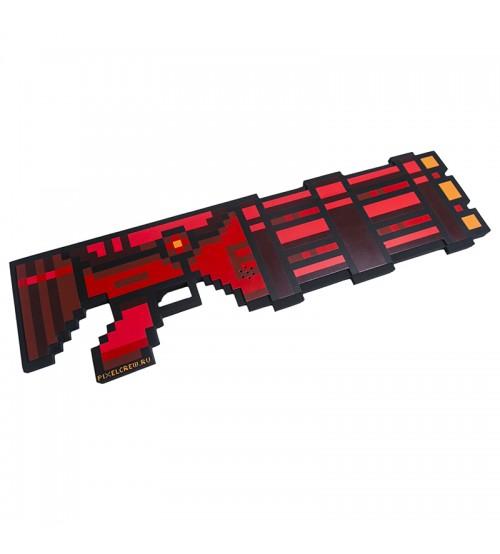 Миниган 8Бит Красный пиксельный со звуком 61см