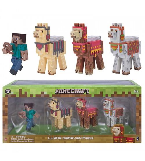 Набор фигурок Minecraft Стив и караван лам 8см