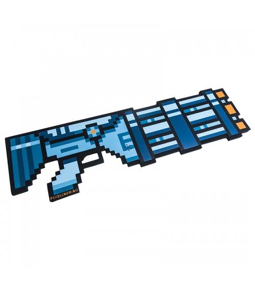 Миниган 8Бит Синий пиксельный со звуком 61см