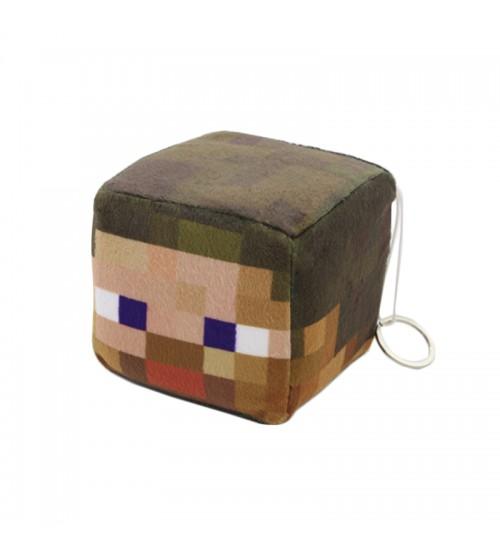 Мягкая игрушка куб Steve 10см
