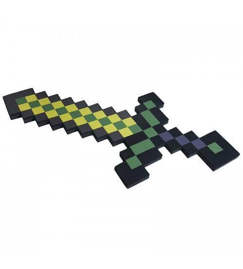 Меч 8Бит золотой пиксельный 60см