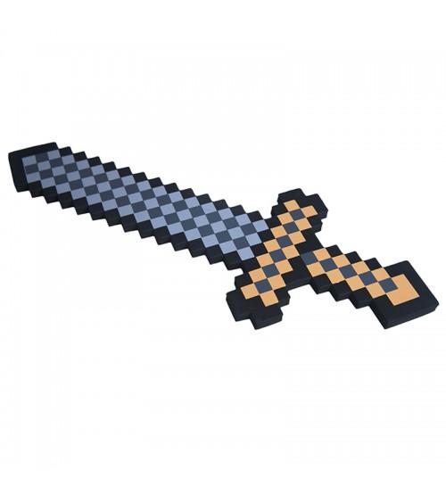 Меч 8Бит коричневый пиксельный серия 2 60см