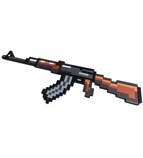 Автомат АК-47 8Бит пиксельный со звуком и светом 68см