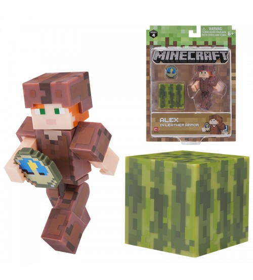 Фигурка Minecraft Alex in Leather Armor 8см