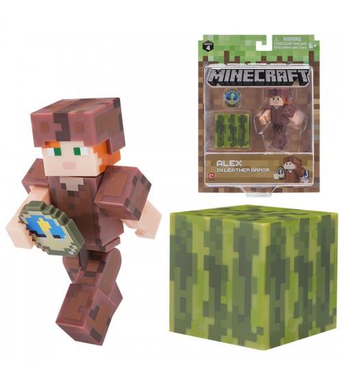 Фигурка Minecraft Алекс в кожаной броне 8см