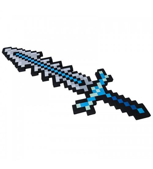 Клинок 8Бит Ледяной пиксельный 75см