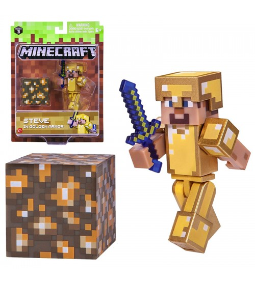 Фигурка Steve in Gold Armor 8см