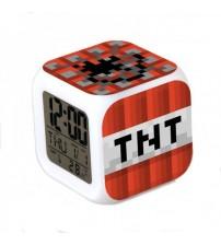 Часы-будильник из блока TNT
