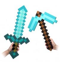 Набор алмазный меч и кирка Майнкрафт