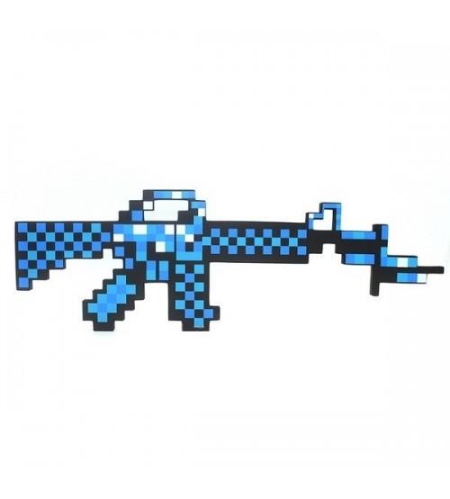 Автомат алмазный пиксельный Майнкрафт