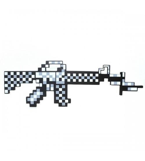 Автомат серый пиксельный Майнкрафт