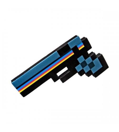 Пистолет пиксельный Майнкрафт 24 см