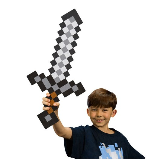 Железный меч Майнкрафт 60 см