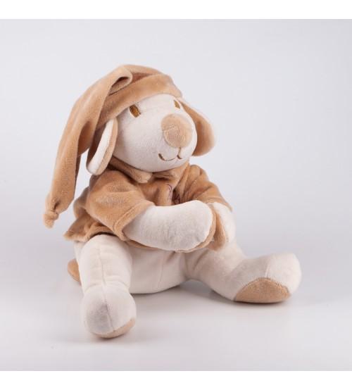 Игрушка для новорожденных Собачка Drema BabyDou бежевая