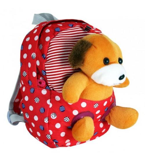 Красный рюкзак с собачкой
