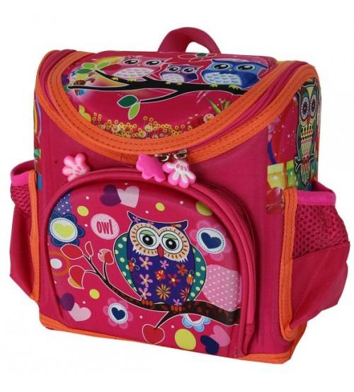 Розовой ранец с совами