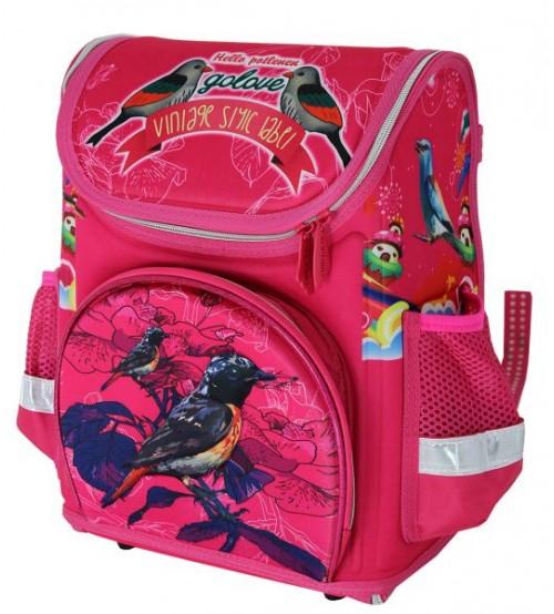 Розовый ранец Красивые птицы