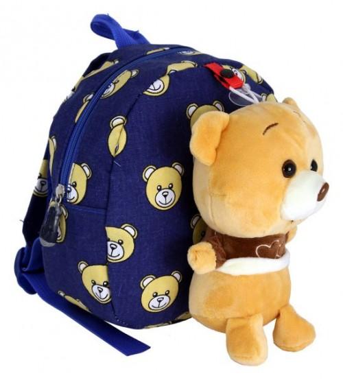 Голубой рюкзак с медвежонком