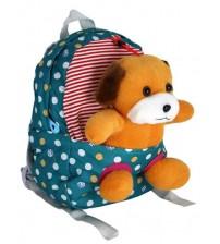 Бирюзовый рюкзак с собачкой