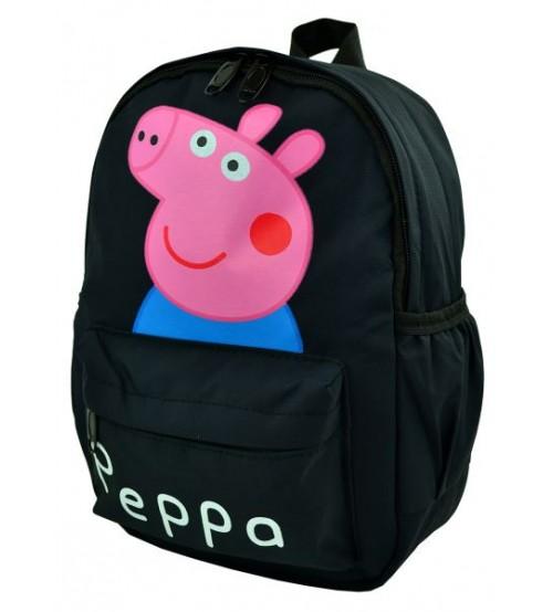 Черный рюкзак с принтом Свинка Пеппа