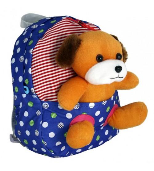 Голубой рюкзак с собачкой